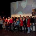 WPAQ pioneers gather at the Historic Earle Theatre in April 2014 to celebrate the anniversary of Ralph's 93rd birthday.