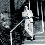Ralph Epperson proudly stands on the front steps of his dream - radio station WPAQ 740AM in Mount Airy, NC.