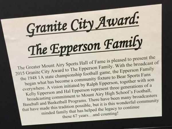 Granite City Award